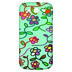Flowers Floral Doodle Plants Samsung Galaxy S3 S III Classic Hardshell Back Case