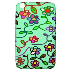 Flowers Floral Doodle Plants Samsung Galaxy Tab 3 (8 ) T3100 Hardshell Case