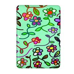 Flowers Floral Doodle Plants Samsung Galaxy Tab 2 (10 1 ) P5100 Hardshell Case