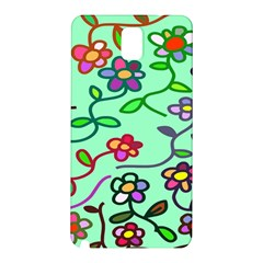 Flowers Floral Doodle Plants Samsung Galaxy Note 3 N9005 Hardshell Back Case