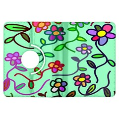 Flowers Floral Doodle Plants Kindle Fire HDX Flip 360 Case
