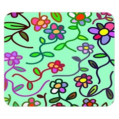 Flowers Floral Doodle Plants Double Sided Flano Blanket (small)