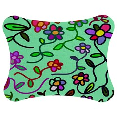 Flowers Floral Doodle Plants Jigsaw Puzzle Photo Stand (Bow)