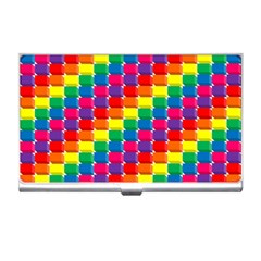 Rainbow 3d Cubes Red Orange Business Card Holders