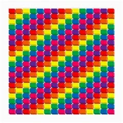 Rainbow 3d Cubes Red Orange Medium Glasses Cloth