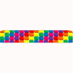 Rainbow 3d Cubes Red Orange Small Bar Mats