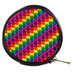 Rainbow 3d Cubes Red Orange Mini Makeup Bags
