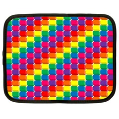 Rainbow 3d Cubes Red Orange Netbook Case (XXL)