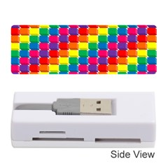 Rainbow 3d Cubes Red Orange Memory Card Reader (Stick)