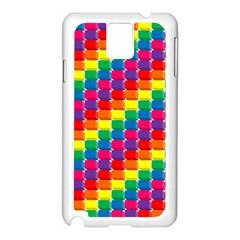 Rainbow 3d Cubes Red Orange Samsung Galaxy Note 3 N9005 Case (white)