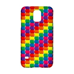 Rainbow 3d Cubes Red Orange Samsung Galaxy S5 Hardshell Case