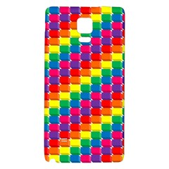 Rainbow 3d Cubes Red Orange Galaxy Note 4 Back Case