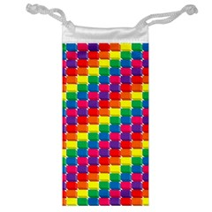 Rainbow 3d Cubes Red Orange Jewelry Bag