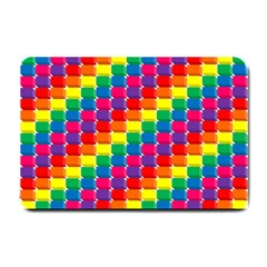 Rainbow 3d Cubes Red Orange Small Doormat