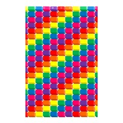 Rainbow 3d Cubes Red Orange Shower Curtain 48  x 72  (Small)