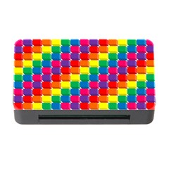 Rainbow 3d Cubes Red Orange Memory Card Reader with CF