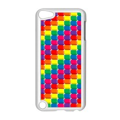 Rainbow 3d Cubes Red Orange Apple iPod Touch 5 Case (White)