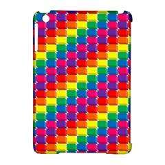Rainbow 3d Cubes Red Orange Apple iPad Mini Hardshell Case (Compatible with Smart Cover)