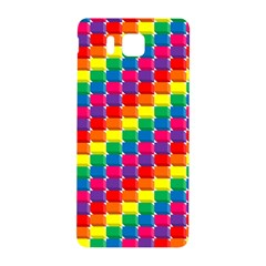 Rainbow 3d Cubes Red Orange Samsung Galaxy Alpha Hardshell Back Case
