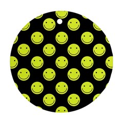 Happy Face Pattern Ornament (Round)