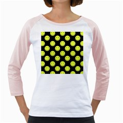 Happy Face Pattern Girly Raglans