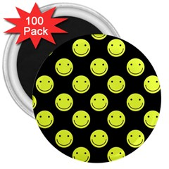 Happy Face Pattern 3  Magnets (100 pack)
