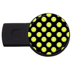 Happy Face Pattern USB Flash Drive Round (1 GB)