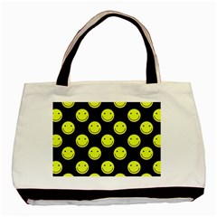 Happy Face Pattern Basic Tote Bag