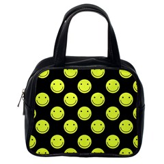 Happy Face Pattern Classic Handbags (One Side)