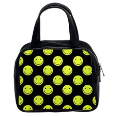 Happy Face Pattern Classic Handbags (2 Sides)