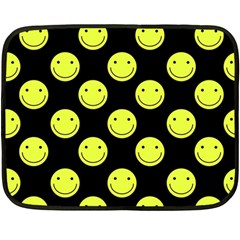 Happy Face Pattern Fleece Blanket (Mini)