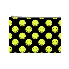 Happy Face Pattern Cosmetic Bag (Large)