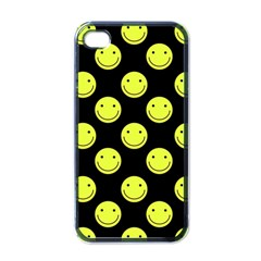 Happy Face Pattern Apple iPhone 4 Case (Black)