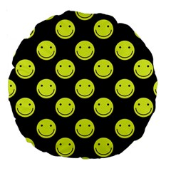 Happy Face Pattern Large 18  Premium Round Cushions