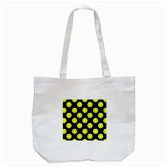 Happy Face Pattern Tote Bag (White)