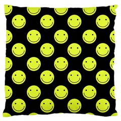 Happy Face Pattern Standard Flano Cushion Case (One Side)