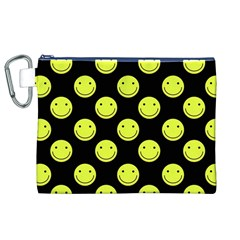 Happy Face Pattern Canvas Cosmetic Bag (XL)