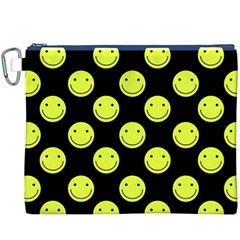 Happy Face Pattern Canvas Cosmetic Bag (XXXL)