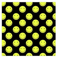 Happy Face Pattern Large Satin Scarf (square)