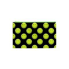 Happy Face Pattern Cosmetic Bag (XS)