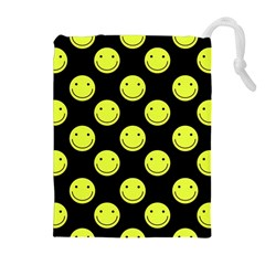 Happy Face Pattern Drawstring Pouches (Extra Large)