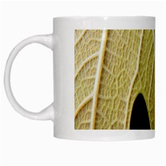 Yellow Leaf Fig Tree Texture White Mugs