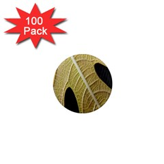 Yellow Leaf Fig Tree Texture 1  Mini Magnets (100 pack)