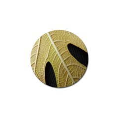 Yellow Leaf Fig Tree Texture Golf Ball Marker