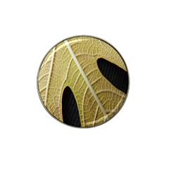 Yellow Leaf Fig Tree Texture Hat Clip Ball Marker