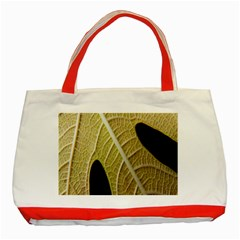 Yellow Leaf Fig Tree Texture Classic Tote Bag (Red)