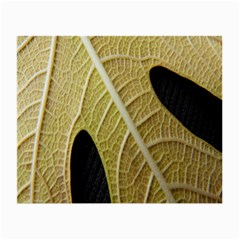 Yellow Leaf Fig Tree Texture Small Glasses Cloth (2-Side)