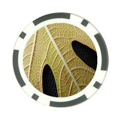 Yellow Leaf Fig Tree Texture Poker Chip Card Guard
