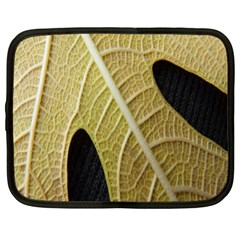 Yellow Leaf Fig Tree Texture Netbook Case (large)