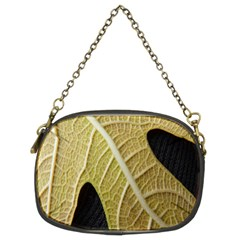 Yellow Leaf Fig Tree Texture Chain Purses (Two Sides)